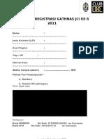 Formulir Registrasi Gathnas 2011