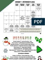 KIPP IES December/Diciembre 2011 Calendar