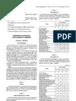 Port 303.2011, 5.Dez - Taxas Portagens Ex-scut