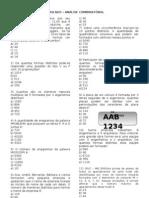 Simulado Analise combinatoria17102011142443