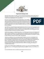 Organization Backgrounder