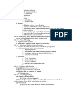 Rules Checklist