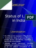 Status of L.P.G. in India