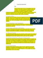 PLANO DE NEGÓCIOS - ROTEIRO