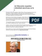 El ministro de Educación argentino destacó la identidad americana en la educación