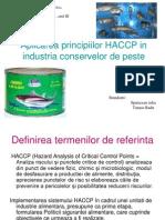 Aplicarea Principiilor HACCP in Industria Conservelor de Peste