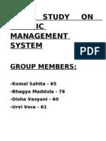 Case Study on Traffic Management System
