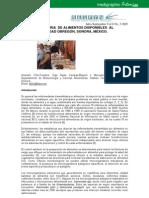 CALIDAD SANITARIA DE ALIMENTOS DISPONIBLES AL PÚBLICO DE CIUDAD OBREGÓN, SONORA, MÉXICO