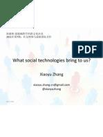 What Social Technologies Bring to Us_Xiaoyu Zhang