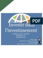 Investir dans l'investissement