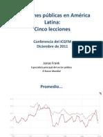 Inversiones públicas en América Latina