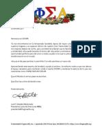 Mensaje del Presidente de la Junta de Directores Fraternidad Fi Sigma Alfa Navidad 2011