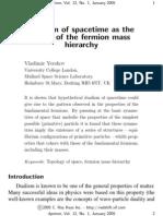 Vladimir Yershov- Dualism of spacetime as the origin of the fermion mass hierarchy