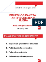 Antirecesijske Mjere SDP-A