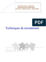 Techniques de Recrutement
