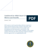 Guidebook for ARRA Smart Grid Program Metrics and Benefits - Revised 12-7-2009