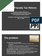 PPI - Weinstein Testimony Re Family Friendly Tax Reform (2005)