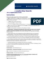 ALAS 2012 Application Form