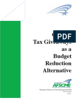 Cutting tax giveaways as a budget reduction alternative