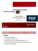 Learning about Information Searchers from Eye-‐Tracking