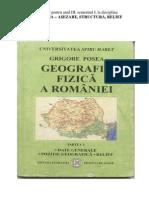 Geografia Fizica a Romaniei Manual an III
