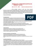 Medicina Veterinaria. Diagnostico y Manejo de La Peritonitis Septica en Perros y Gatos