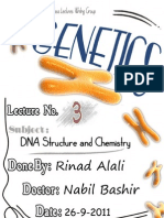 Genetics Lec #3 - DNA Structure and Chemistry - By Rinad Alali