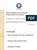 Effect of Patient Sex on General Anaesthesia And