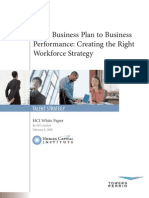 From Business Plan to Business Performance