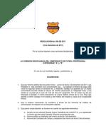 Resolusión caso Junior vs Chicó