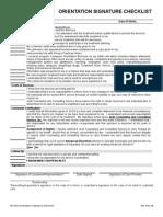 orientation checklist