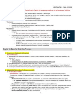 Contracts - 1 OUTLINE