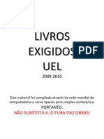 Livros exigidos - vestibular 2009/2010 UEL