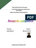 Componentes de la seguridad y defensa de la nación venezolana