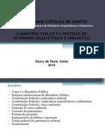 O Ministério Público e a  proteção do patrimônio arquitetônico e urbanístico
