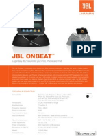 On Beat - Specification Sheet