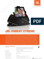On Beat Xtreme Spec Sheet