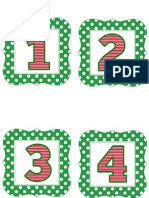 Green Polka Christmas Numbers 1-50