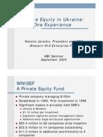 WNISEF Experience in Ukraine