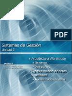 3.2 Arquitectura Data Warehouse