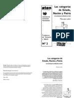 Categorias de Estado Nacion y Patria Material ATEN