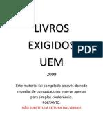 Livros exigidos - vestibular 2009 UEM