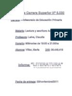 Lec y Esc Acad - LITERATURA Informe 001