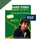 Programa Consejero AP 2012 Gerard Toro