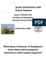 Electromagnetic Interference With Medical Implants
