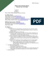 HERAA Board Meeting Minutes 5-15