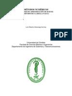 Metodo de ion de Raices (Metodo de La Regla Falsa