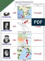 scheda esplorazioni geografiche XV - XVI secolo