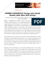 VIPERA COSMETICS Forays into Saudi Arabia with Zain Gulf Group