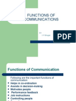 Functions of Communication Final